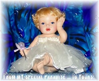 OOAK Marilyn Monroe Porcelain Doll Baby Marilyns First Christmas
