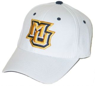 Marquette Golden Eagles MU White Flex Fit Fitted Hat Cap M L New