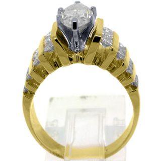Carat Marquise Round Diamond Engagement Ring