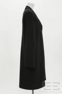 Marina Rinaldi Black Button Front Tonal Stitched Jacket Size 25