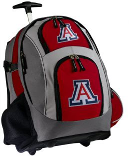 University of Arizona Rolling Backpack Best Wildcats Logo Wheeled Bags