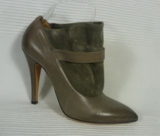 Maison Martin Margiela 22 Grey Leather Suede Ankle Shoe Boots 38 5 UK