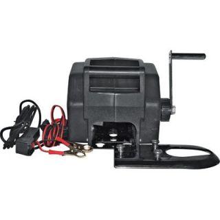 12 Volt Portable Marine Winch   2000 Lb. Capacity