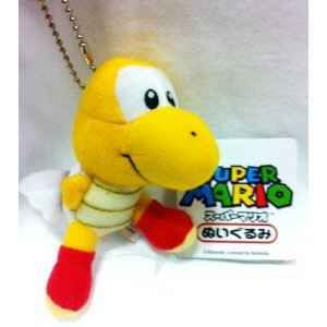 Super Mario Bros Plush Wing Turtle Keychain New 2 5 Red