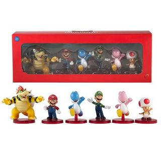 Nintendo Super Mario Bros 2 inch Figure 6 Pack