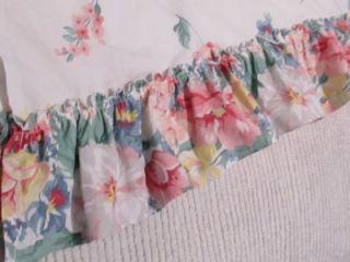 Martha Stewart Floral Ruffled Window Valance Decor Shabby Cottage Chic