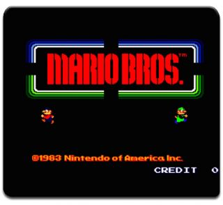 Mario Bros Logo Mouse Pad Video Game Nintendo Luigi NES