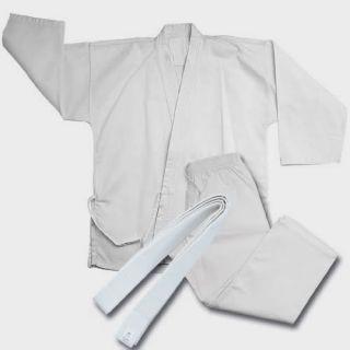 White Karate Suit Martial Arts Uniforms Free Belt