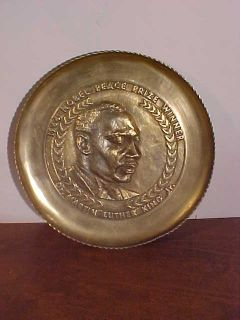 Martin Luther King Jr Nobel Brass Plate Plaque 11