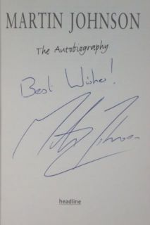 World Cup Winning CaptN Martin Johnson Signed Autograph Book