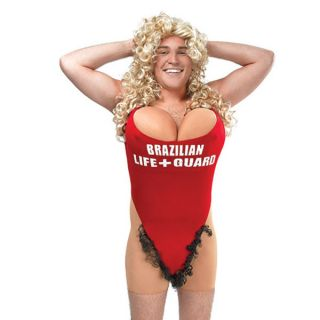 Funny Mens Hairy Mary Stag Night Fancy Dress Costume – Baywatch