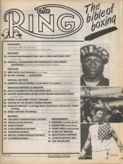 Ring Edwin Rosario Howard Davis Marvin Hagler Pedroza Bret Summers 9