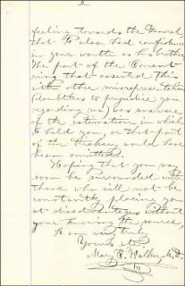 Mary Edwards Walker Autograph Letter Signed