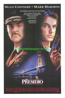 The Presidio Movie Poster Sean Connery Mark Harmon