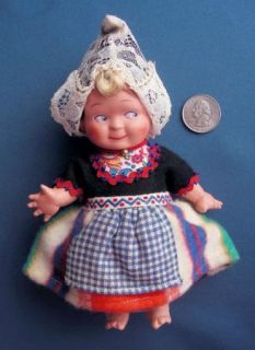 Doll Celluloid Ethnic Costume Turtle Mark Rotterdam Holland