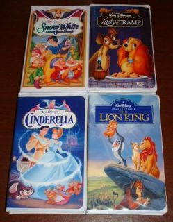 Lot of 20 Disney Animated Classic VHS Videos Masterpiece