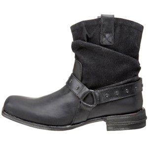 Mark Nason Lounge Shots Black Leather Mens Boots US Size 8