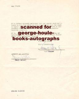 Mary Astor Document Academy Awards 1946
