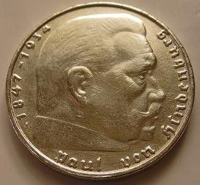 Germany 1938 A 2 Reichs Mark Silver Deutsches Reich Coin