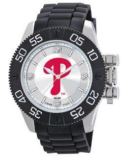Game Time Watch, Mens Philadelphia Phillies Black Polyurethane Strap