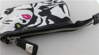 Betsey Johnson Mary Lynn Pop Cosmetic Bag Marilyn Monroe Op Art Case