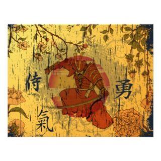 Samurai Warrior ~ Vintage Japanese Kanji Character Letterhead