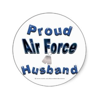 Proud Air Force Husband Stickers