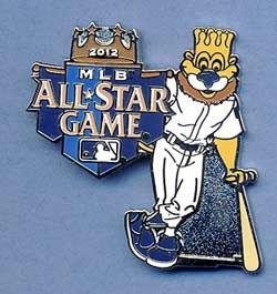 2012 Kansas City Royals MLB All Star Game Slugger Mascot Pin
