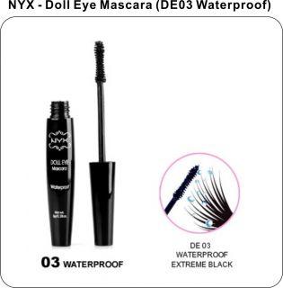 NYX Cosmetic Doll Eye Mascara DE03 Waterproof Extreme Black Brand New
