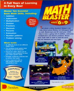 Math Blaster Ages 6 9 PC CD 1st 3rd Grade Arcade Game