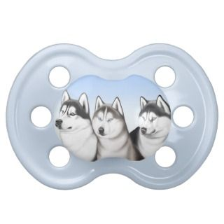 Friendly Husky Dogs Baby Pacifier