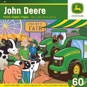 Masterpieces John Deere County Fair Blue Ribbon Tractor Kids Jigsaw