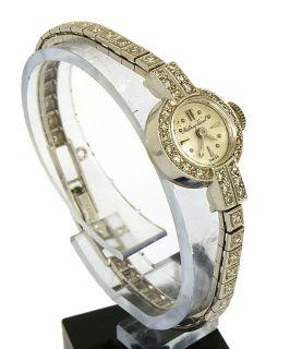 Vintage Mathey Tissot 14k Gold Diamonds Ladies Fine Wrist Watch