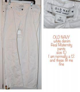 Motherhood Maternity Clothes Size Large 8 Piece Lot Dress Pants Tops
