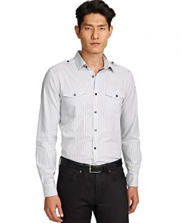 Kenneth Cole New York Shirt, Stripe Shirt   Mens Casual Shirts