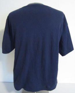 Man at Work T Shirt Mens Short Sleeve L Dark Blue Matt Groening