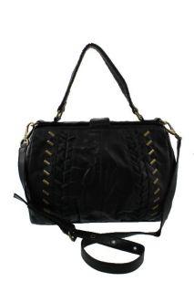 Matt Nat New Karen Black Studded Frame Tote Handbag Large BHFO