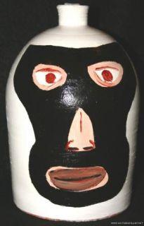 Sam Granger Sam G Marvin Bailey Folk Art Pottery Jug Painted Painting