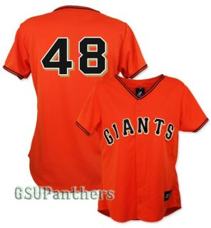 Pablo Sandoval San Francisco Giants Womens Alternate Orange Jersey Sz
