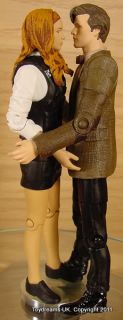 Doctor Dr Who Matt Smith 11th Stripey Brown Jacket Figure