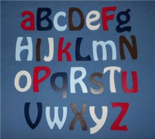 Size Complete Alphabet Set Painted Wooden Wall Letters Nursery