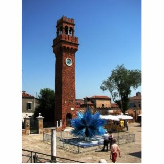 Murano, Italy Clock tower and Glass sculpture Acrylic Cut Outs