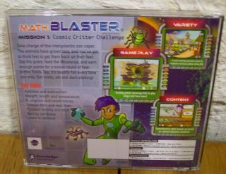 Math Blaster Mission 1 PC CD ROM Video Game Ages 6 7