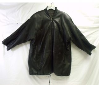 La Matta Century Dark Brown Italy Leather Jacket Sz 42