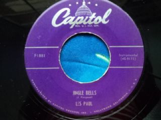 Les Paul Mary Ford 45 Jingle Bells Silent Night 1951