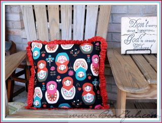 Decor Russian Girl Doll Adoption Matryoshka Fabric New Pillow