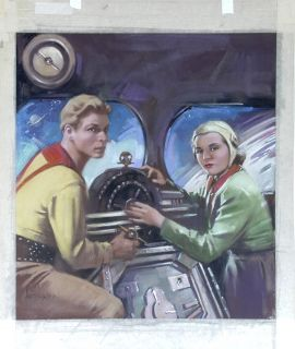 Brown Original Published Art Buck Rogers Filmfax Cover 79 2000