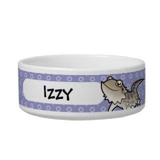 Cartoon Bearded Dragon / Rankin Dragon Cat Water Bowls