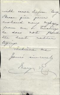 Queen Mary Mary of Teck Autograph Letter Signed