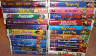 Classic Movies Lot Video Snow White Fantasia Dumbo Mary Poppins